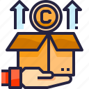 box, copyright, law icon