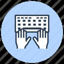 blog, copywriter, copywriting, keyboard, type icon