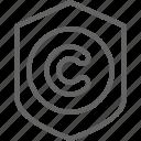 author, copyright, copywriting, mark, protection icon