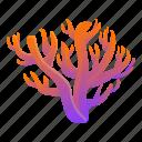 coral, gradient, retro