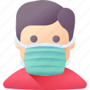 avatar, mask, patient, person, protection, safety, user