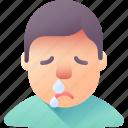 fever, nose, runny, sick