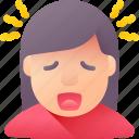 dizzy, fever, headache, sick