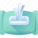 box, papper, roll, tissue, wet icon