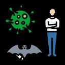 bat, carrier, corona, coronavirus, covid, flu, virus icon