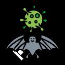 bat, carrier, corona, coronavirus, flu, virus icon