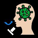 allergy, breathing, coronavirus, covid, difficulty, human, medical icon