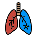 bronchitis, corona, effect, inflamation, influenza, lung, pneumonia icon