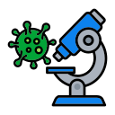 corona, lap, microscope, research, test, virus icon
