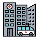 building, clinic, healthcare, hospital, medical icon