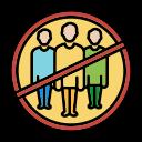 corona, coronavirus, covid, crowd, gathering, not, virus icon