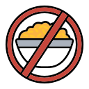 avoid, baned, cover, food, not, open icon
