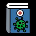 book, coronavirus, education, handbook, medical, medicine, treatment icon