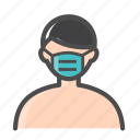 color, corona, covid, icons, mask, protect, vector, virus icon