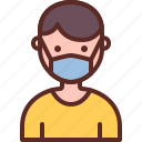 using, covid19, sick, mask, corona virus, virus mask