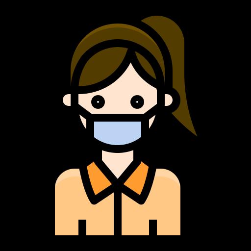 avatar, corona, corona virus, coronavirus, covid19, mask, user, wearing, woman icon