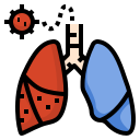corona, corona virus, coronavirus, covid19, infection, lung, respiratory icon