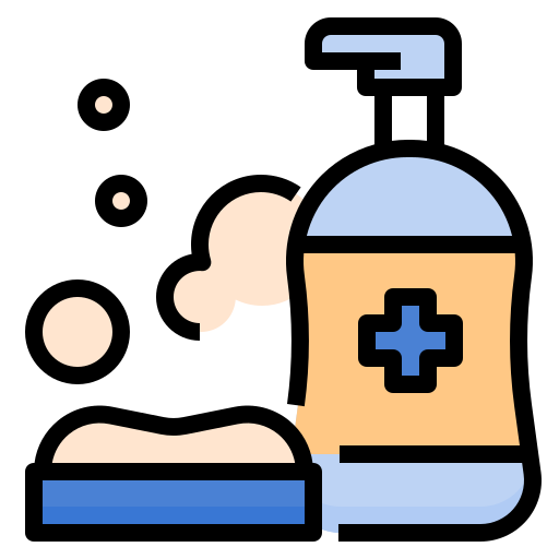 cleaning, corona, corona virus, coronavirus, gel, health, infection, soap, sterile icon