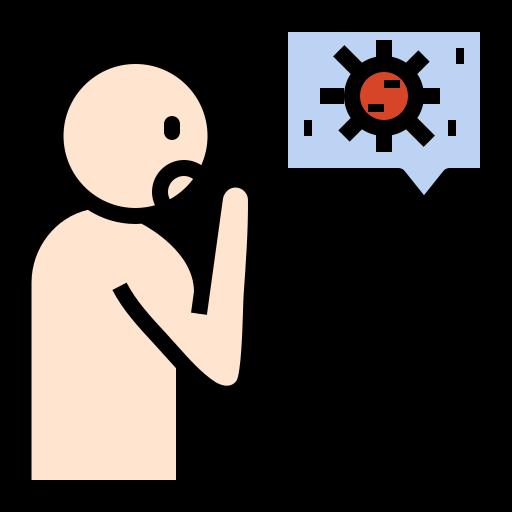 aerosol, corona, coronavirus, coughing, health, sneezing, transmission, virus icon