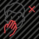 coronavirus, covid, dont, face, prohibition, touch icon
