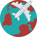 globe, global, travel, earth, airplane
