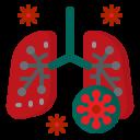 corona, coronavirus, covid19, lung, virus icon