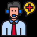 callcenter, coronavirus, covid19, hospital, information icon