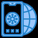 corona, coronavirus, covid19, global, mobilephone icon