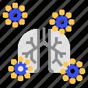 bronchitis, coronavirus, lung icon
