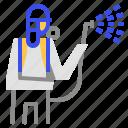 coronavirus, nozzle, spray icon