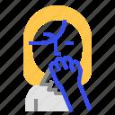 coronavirus, tisue icon