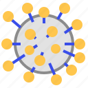 cell, coronavirus icon