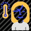 coronavirus, measure, temperature icon