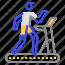coronavirus, fitness, run icon