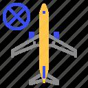 coronavirus, stop, traffice, air plane icon