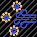 air, coronavirus, wind icon