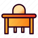 table, furniture, desk, office, tool