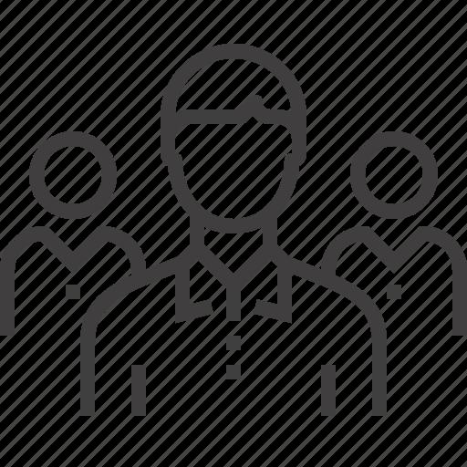 Group, leader, leadership, people, person, team, teamwork icon - Download on Iconfinder