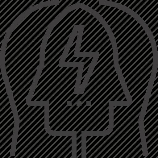 brain, brainstorm, head, idea, mind, people, think icon