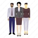 avatar, corporate, man, mixed race, people, profile, woman icon