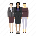 avatar, corporate, group, mixed race, person, race icon
