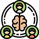 brainstorm, teamwork, thinking, processing, coordination