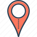 location, location pin, navigation, pointer, scene, venue, whereabouts