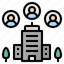 company, construction, corporate, foundation, organization, staff, structure icon