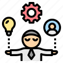 businessman, control, management, manager, resource, settings