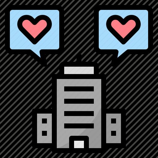 corporate, heart, honest, like, love, sincerity, truthful icon