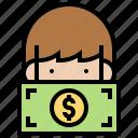 bribery, corruptible, dishonest, inducement, money icon