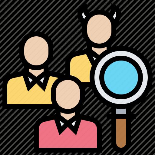 corruption, identify, latent, search, seek icon