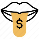covetous, crave, greed, hungry, money icon