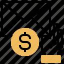 envelope, mail, money, receive, silver icon